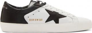 Golden Goose Superstar White & Black Trainers