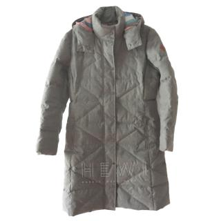 Paul Smith grey mid length down hooded coat