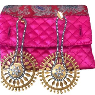 Amrapali  diamond and gold star wheel earrings