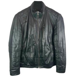 Boss Hugo Boss Zip-Through Leather Jacket
