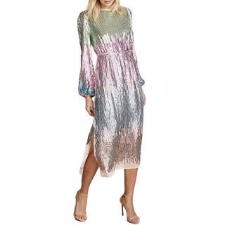 Rixo Coco Sequin-Embellished Dress