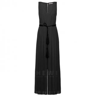 MaxMara Black Sleeveless Wide-Leg Jumpsuit