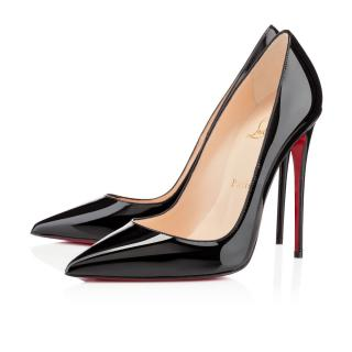 Christian Louboutin So Kate Black Patent Leather Pumps