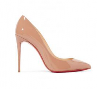 Christian Louboutin Pigalle 100 Nude Pumps