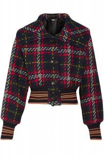 Miu Miu Wool Tartan Cropped Jacket