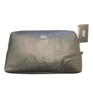 Boss Hugo Boss Grained Leather Wash Bag