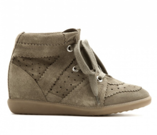 Isabel Marant Taupe Bobby Sneakers