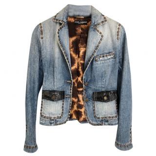 Dolce & Gabbana Denim Embellished Jacket