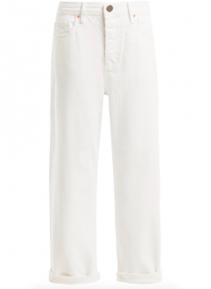 Raey White Low-Rise Jeans