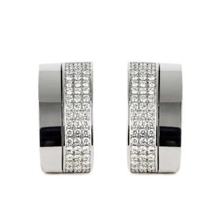 Chopard White Gold Diamond Clip-On Earrings