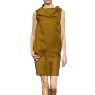 Celine Ochre Silk Origami Dress