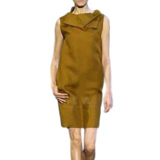 Celine Ochre Silk Origami Dress