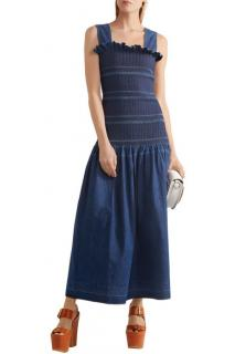 Stella McCartney Denim Ruched Pinafore Dress