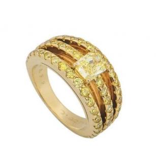 Graff Yellow Diamond 18k Gold Ring