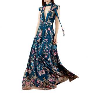 Roberto Cavalli Pre-Fall 15' Silk Floral Gown