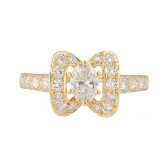Piaget Yellow Gold Diamond Bow Ring