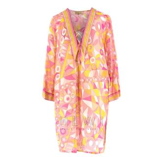 Emilio Pucci Pink Printed Cotton and Silk Tunic
