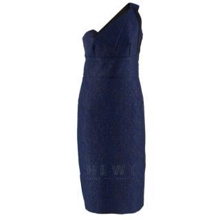 Roland Mouret One-Shoulder Colourblock Dress