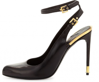 Tom Ford Ankle Wrap Calfskin Sandals