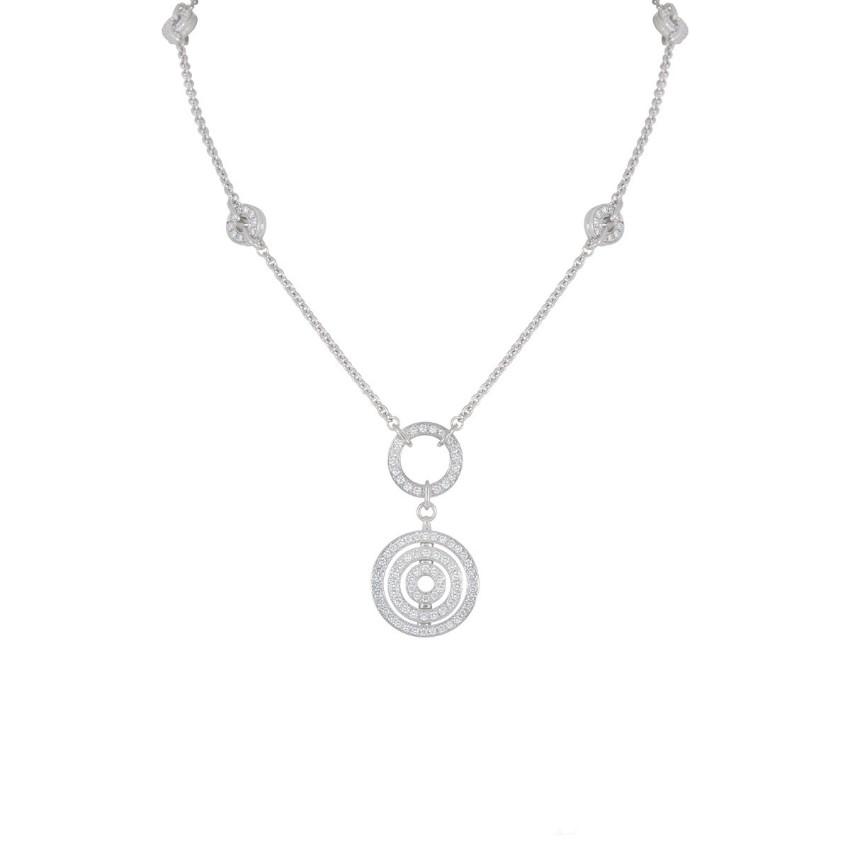 Bvlgari 18k White Gold Diamond Pave Necklace