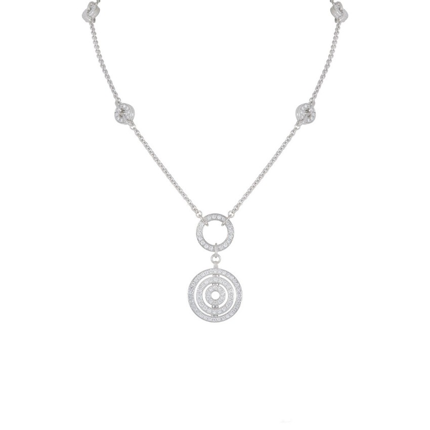 Bvlgari 18k White Gold Diamond Pave Necklace