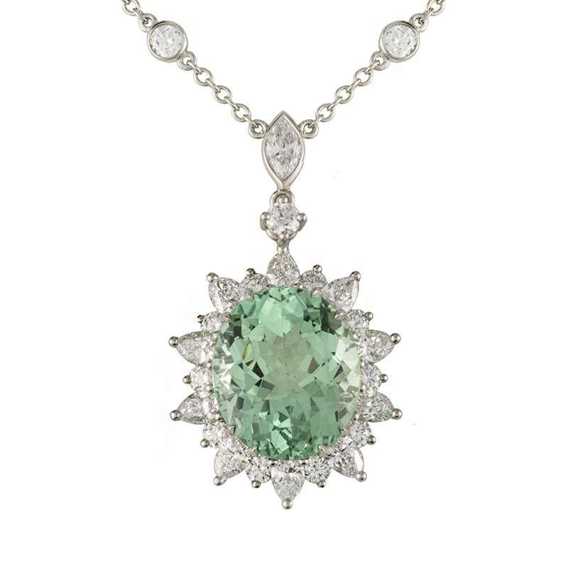 Tiffany & Co. Platinum Tourmaline Necklace