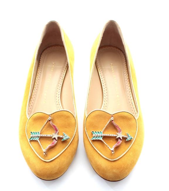 Charlotte Olympia Sagittarius suede slippers