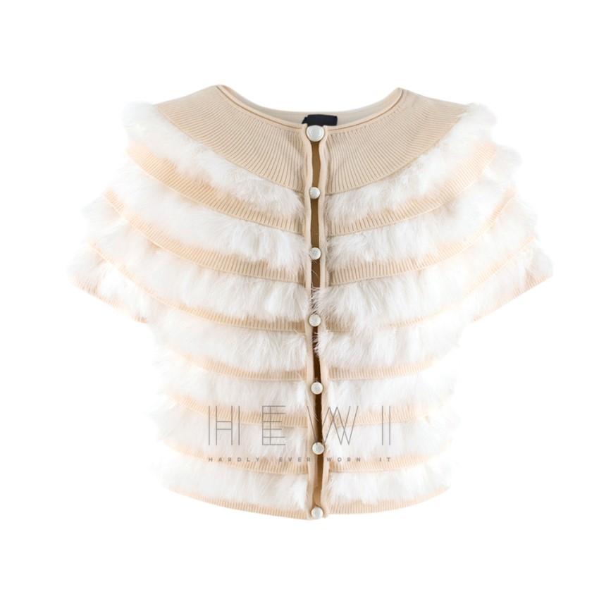 Fendi Wool & Pelliccia Fur Panelled Short Cardigan