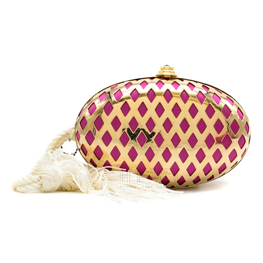 Temperley Faberge Evening Lattice Clutch