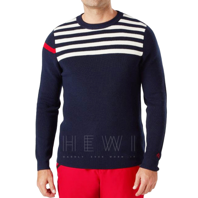Perfect Moment Navy Stripe Crew-Neck Sweater