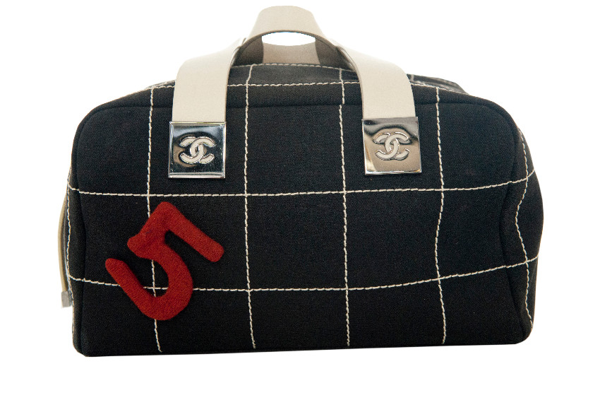 Chanel Canvas Check Chanel No5 Holdall
