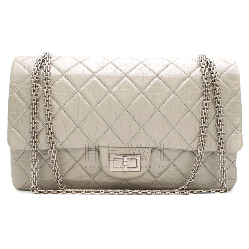 Chanel Silver Aged Calfskin Reissue 2.55 Flap Bag
