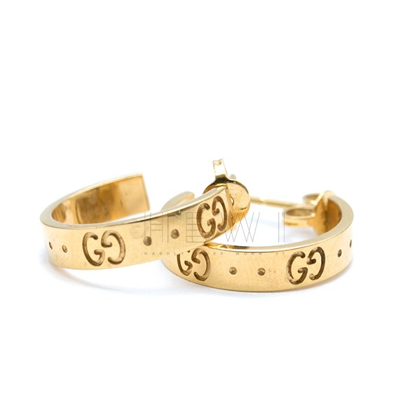 Gucci 18ct Gold Icon Earrings