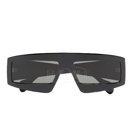 Gucci Eyewear black rectangular-frame sunglasses
