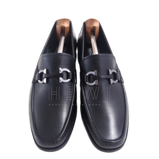 Salvatore Ferragamo Gancio Black Loafers