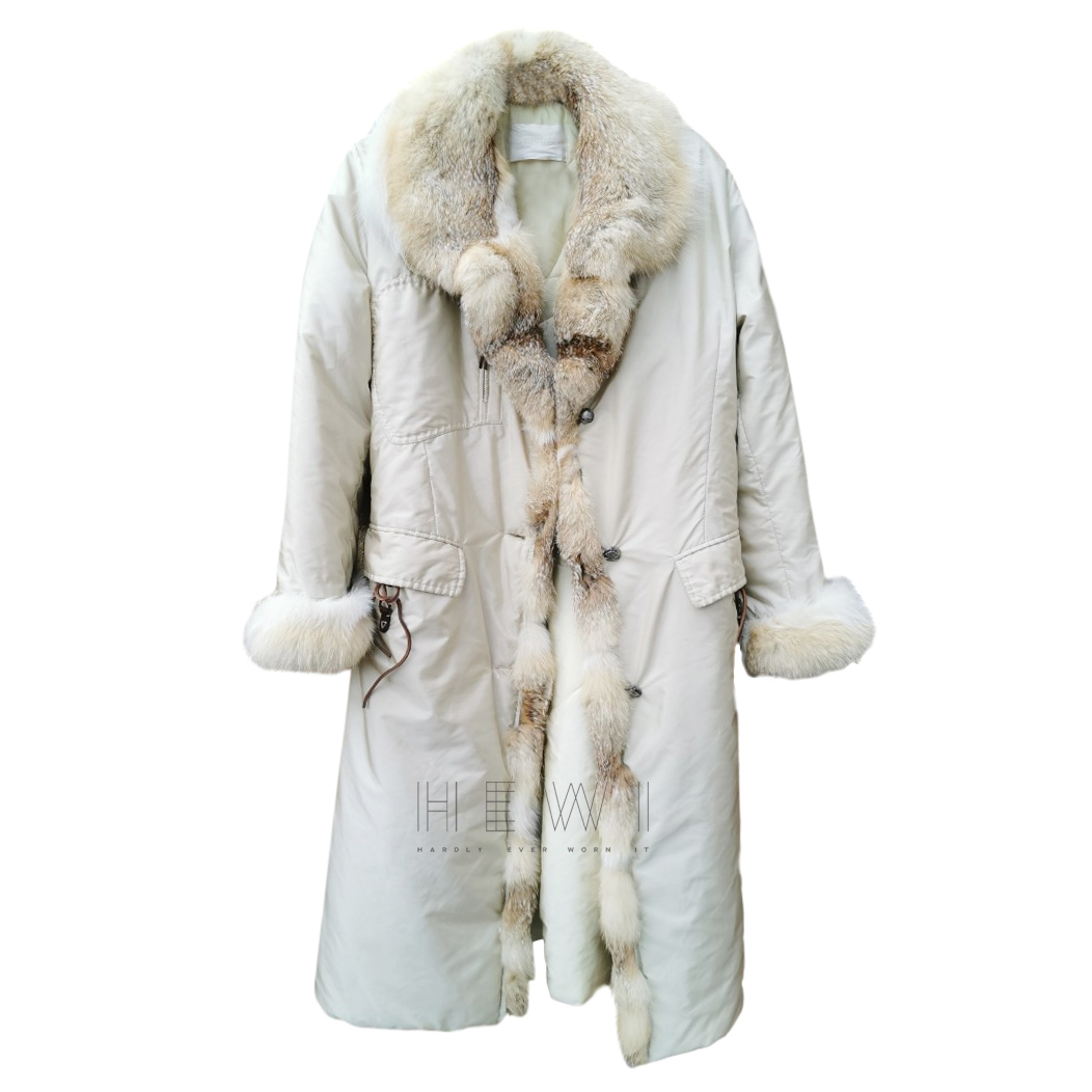 Ermanno Scervino Padded Coat W/ Fox Fur