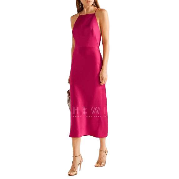 Jason Wu Rasberry Pink Halter-Neck Midi Dress
