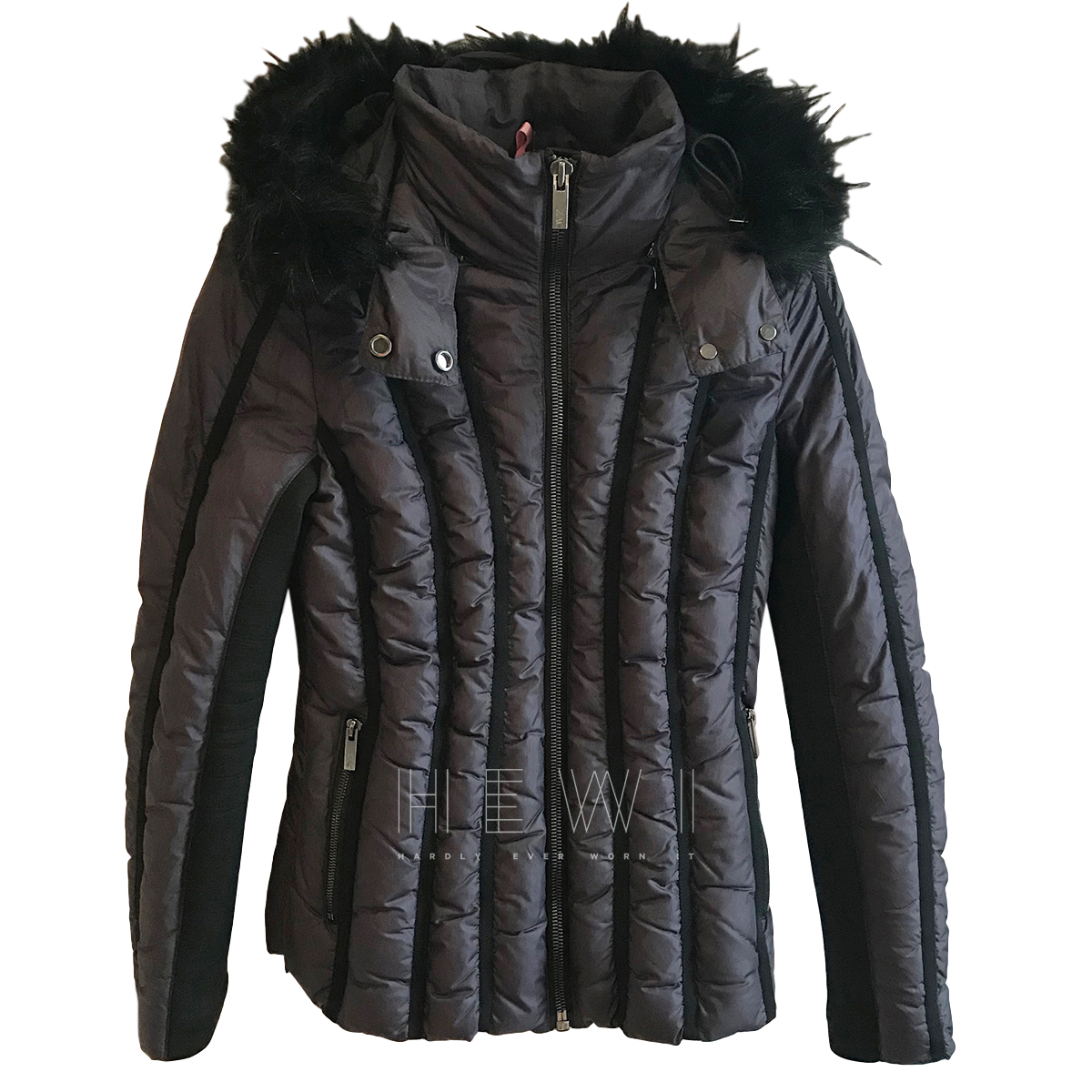 Zac Posen Faux-Fur Trimmed Quilted Jacket