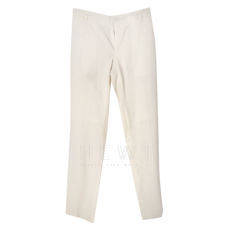 Dolce & Gabbana Cream Wool Trousers