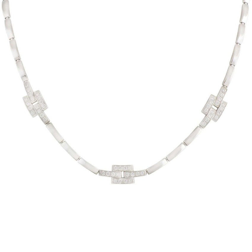 Cartier White Gold Diamond Pave Necklace