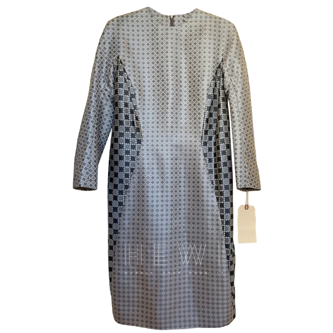 Thom Browne jacquard seamed waist shift dress