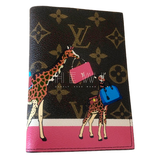 Louis Vuitton Monogram Giraffe Print Passport Holder