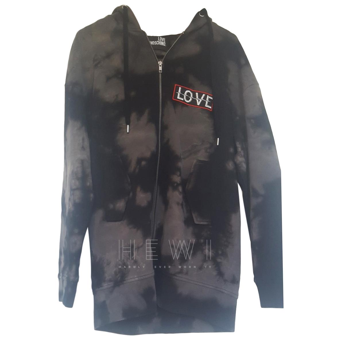 Love Moschino Tie-Dye 'Love' Badge Jacket