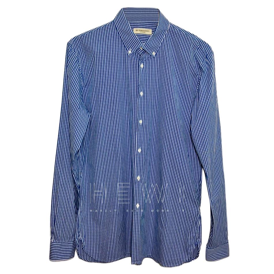 Burberry Men's Blue Gingham Shirt