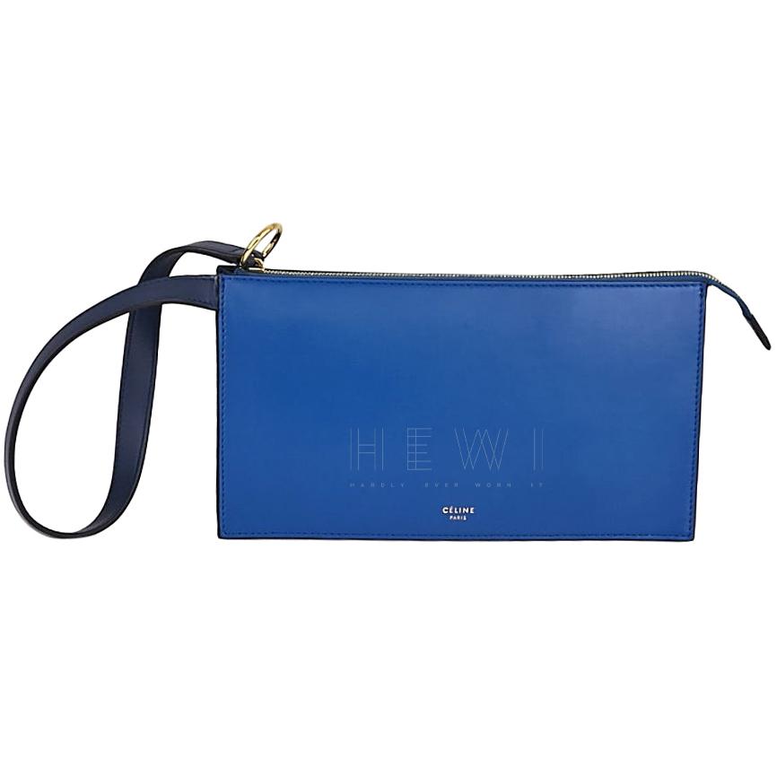 Celine Sea Blue Ring Clutch Bag