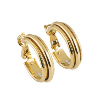 Piaget Yellow Gold Fluted Mini Hoop Earrings
