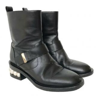 Nicholas Kirkwood Casati Pearl Heel Ankle Boots