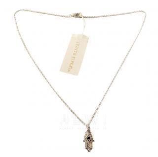 Judith Ripka Hamsa Hand Pendant Necklace