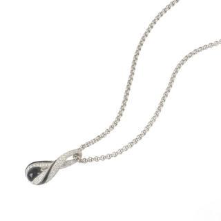 Kutchinsky Diamond & Onyx Droplet Pendant Necklace