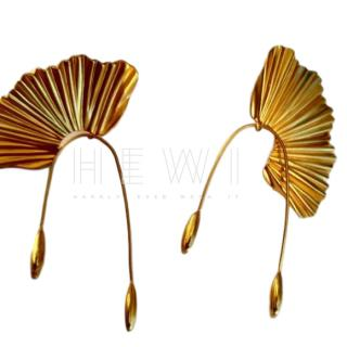 Jennifer Behr Gold Plated Fan Earrings
